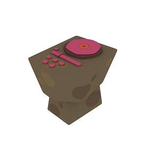 cartoon dj table 3D