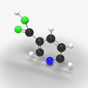 3D Niacin Vitamin B3 Molecule