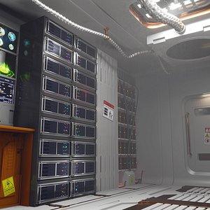 sci-fi eevee 3D model