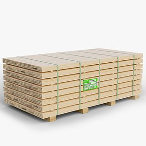 pallet pine timber gameready 3D model