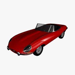 3D e-type 1962 cabrio