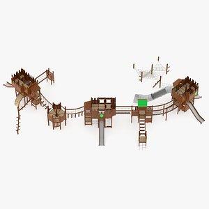 3D Lappset Castle Maximus model