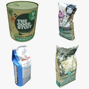 3D Dog Food Packaging Collection 05 model