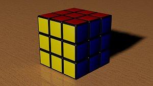 3D model 3x3 Rubiks Cube