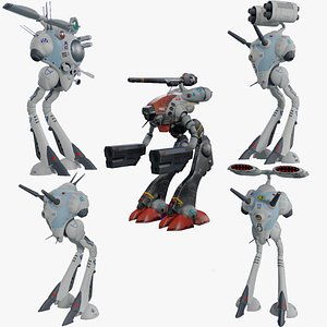 3D Zentradi battle pods collection 5 in 1