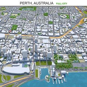 Perth Australia 3D model