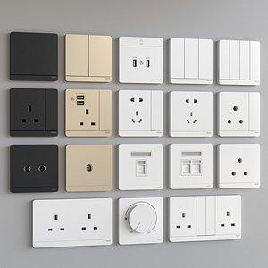 socket outlet plug 3D