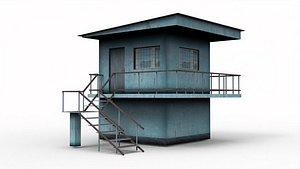 Railway Building 3D model