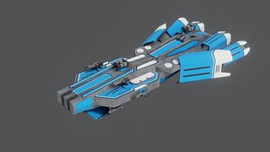 3D model Sci-Fi Space Ship StarMaster- LowPoly - PBR - GameReady Low-poly 3D model