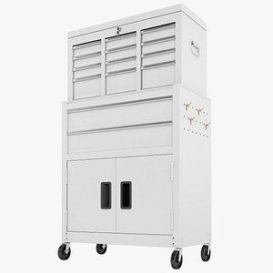 Tool Box Trolley Storage Garage 05 3D model