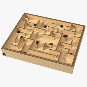 Board Game Marble Labyrinth from Cardboard 3D model