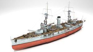 3D model dreadnought battleship class