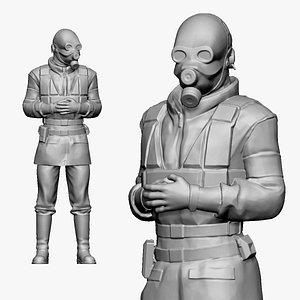 001153 SAS gasmask swat 3D model