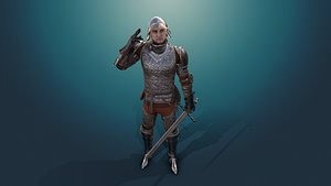 knight male character 3D model