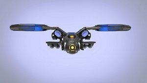 3D Dragon Spaceship JET model