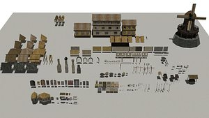 Medieval Pack Modular LOW POLY 3D model