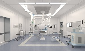 3D model Operating room Medical room operating table Surgical tools surgical equipment Operating room surgica