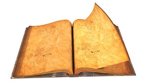 3D old rigid book model