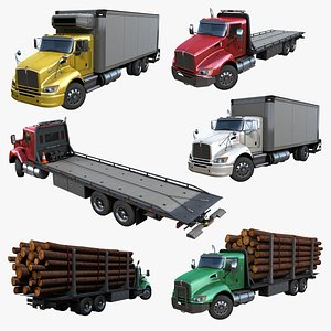 3D trucks pbr model