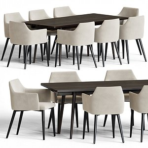 table chair model