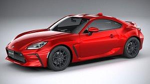 3D Toyota GR 86 2022 LowPoly model