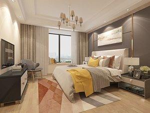 3D Bedroom Postmodern Bedroom Master Bedroom Simplified Bedroom Deluxe Bedroom European Bedroom Childre