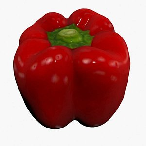 Red Pepper Scan High Quality 3D model
