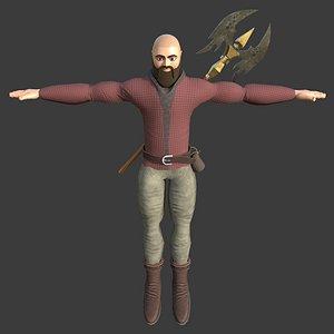 mosi character rigged 3D