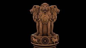 3D Ashoka chakra Emblem model