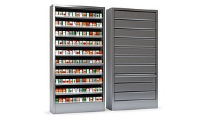 3D Display Case for Cigarettes with Metal Blinds model