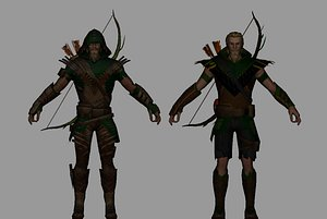 green arrow 3D model