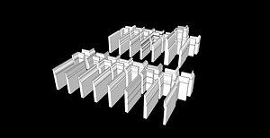 3D model decor baseboard molding