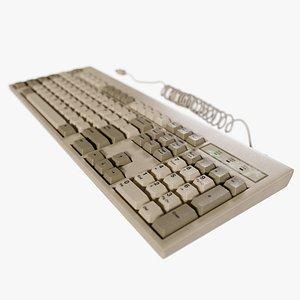 3D model keyboard old