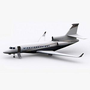 Low-Poly Dassault Falcon 7X 3D model