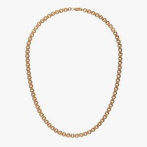 3D Chain Necklace NL008-0.9