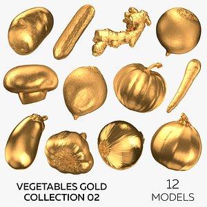 3D model Vegetables Gold Collection 02 - 12 models