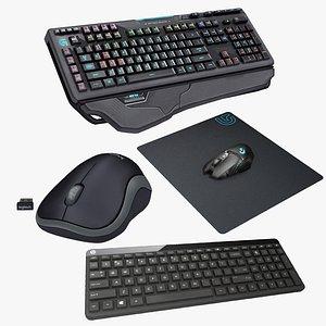 3D model keyboard mouse 4