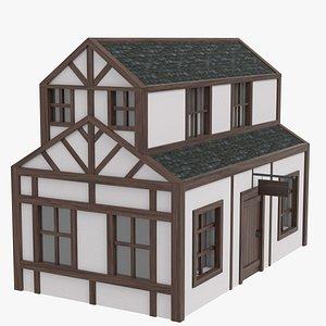 3D model Half timbered inn