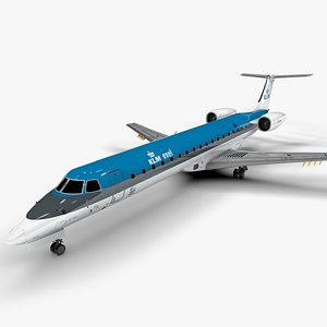 KLM EXEL EMBRAER ERJ 145 L1404 3D