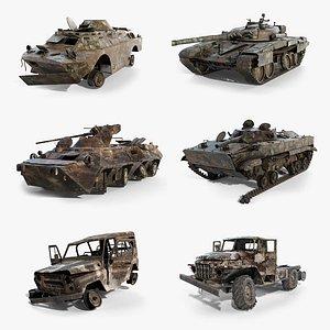Wrecked Soviet Military Vehicles Set model
