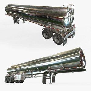 Fuel Tank Trailer - Low Poly 3D model