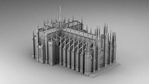 3D Duomo di Milano model