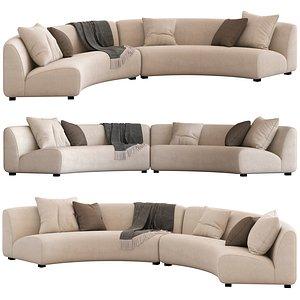 Coco Republic Adele Curved Modular Sofa 3D model
