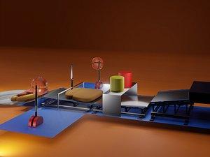 3D Breakfast in a Box model