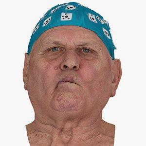 3D Homer Human Head Cheek Suck AU35 Raw Scan