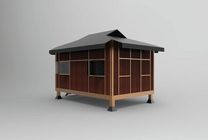 3D shelter rumah limas