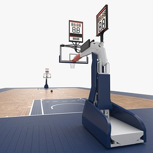 Basketball Court and Baskets 05 3D model