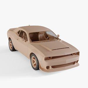 2018 Dodge Challenger SRT Demon 3D model