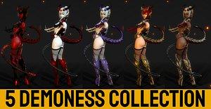 3D model Demoness Set