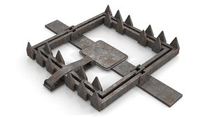 Rusty Metal Trap 3D model